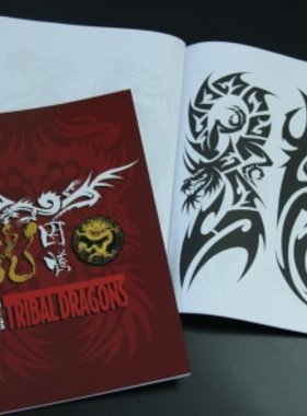 Tribal Dragons Tattoo Book