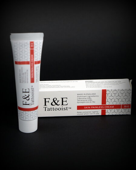 F&E Tattooist Red Skin Painless Cream 35g