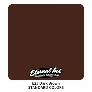 Eternal Tattoo Ink - Dark Brown 30ml.