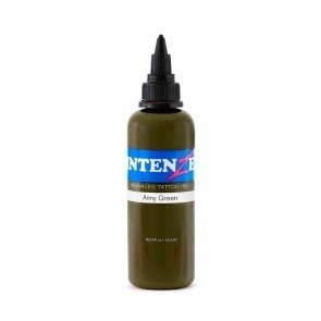 IntenZe Tattoo Ink - Army Green 1oz./30ml.